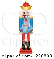 Clipart Of A Wooden Christmas Nutcracker With White Hair Royalty Free Vector Illustration by Pams Clipart
