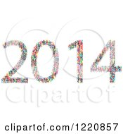 Clipart Of Colorful Numbers Forming New Year 2014 Royalty Free Vector Illustration by Andrei Marincas
