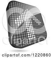Clipart Of A Reflective Grayscale Up Arrow Icon Made Of Dots Royalty Free Vector Illustration by Andrei Marincas
