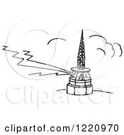 Clipart Of A Black And White Worker In An Airport Tower Royalty Free Vector Illustration by Picsburg