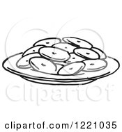 Black And White Plate Of Cookies
