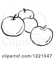 Black And White Apples