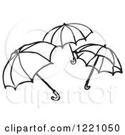 Black And White Umbrellas