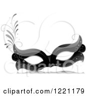Clipart Of A Grayscale Carnival Eye Face Mask Royalty Free Vector Illustration