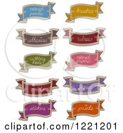Clipart Of Organization Arts And Crafts Ribbon Labels Royalty Free Vector Illustration by BNP Design Studio