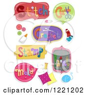 Clipart Of Arts And Crafts Labels Royalty Free Vector Illustration
