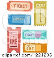Clipart Of Event Tickets Royalty Free Vector Illustration
