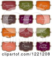 Clipart Of Colorful Organizational Herb And Spice Labels Royalty Free Vector Illustration