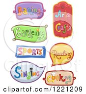 Clipart Of Decorative Hobby Labels Royalty Free Vector Illustration