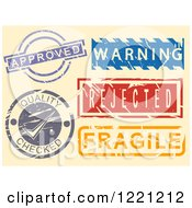 Clipart Of Notice Stamps Royalty Free Vector Illustration