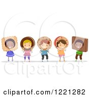 Clipart Of Diverse Children In Cookie Costumes Royalty Free Vector Illustration by BNP Design Studio