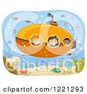 Diverse Children On A Submarine Ride