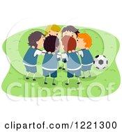 Circle Of Soccer Boys Huddling