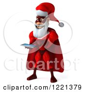 3d Super Hero Santa Using A Tablet Computer
