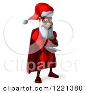 3d Super Hero Santa Using A Tablet Computer 2