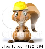 Clipart Of A 3d Squirrel Construction Worker Mascot Royalty Free Illustration