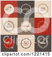 Clipart Of Retro Menu Design Tiles Royalty Free Vector Illustration by elena