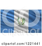 Clipart Of A 3d Waving Flag Of Guatemala With Rippled Fabric Royalty Free Illustration