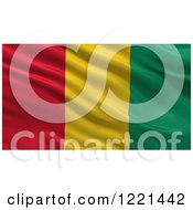 Clipart Of A 3d Waving Flag Of Guinea With Rippled Fabric Royalty Free Illustration by stockillustrations