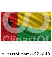 Clipart Of A 3d Waving Flag Of Guinea Bissau With Rippled Fabric Royalty Free Illustration
