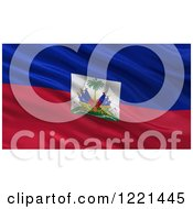 Clipart Of A 3d Waving Flag Of Haiti With Rippled Fabric Royalty Free Illustration