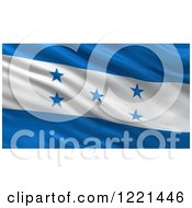 Clipart Of A 3d Waving Flag Of Honduras With Rippled Fabric Royalty Free Illustration