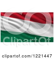 Clipart Of A 3d Waving Flag Of Hungary With Rippled Fabric Royalty Free Illustration