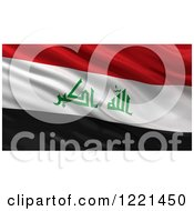 Clipart Of A 3d Waving Flag Of Iraq With Rippled Fabric Royalty Free Illustration