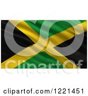 Clipart Of A 3d Waving Flag Of Jamaica With Rippled Fabric Royalty Free Illustration by stockillustrations