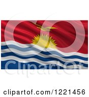 Clipart Of A 3d Waving Flag Of Kiribati With Rippled Fabric Royalty Free Illustration