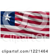 Clipart Of A 3d Waving Flag Of Liberia With Rippled Fabric Royalty Free Illustration