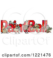 Clipart Of A Paintball Team And Text Royalty Free Illustration