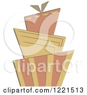 Clipart Of A Three Tiered Funky Wedding Or Birthday Cake 2 Royalty Free Vector Illustration