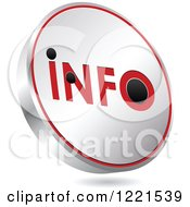 Clipart Of A 3d Floating Silver And Red Info Icon Royalty Free Vector Illustration by Andrei Marincas