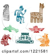 Clipart Of Ancient Hieroglyph Tribal Art 2 Royalty Free Vector Illustration