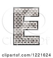 Clipart Of A 3d Diamond Plate Capital Letter E Royalty Free Illustration by chrisroll