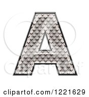 Clipart Of A 3d Diamond Plate Capital Letter A Royalty Free Illustration by chrisroll