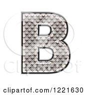 3d Diamond Plate Capital Letter B