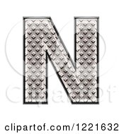 Clipart Of A 3d Diamond Plate Capital Letter N Royalty Free Illustration by chrisroll