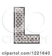 Clipart Of A 3d Diamond Plate Capital Letter L Royalty Free Illustration