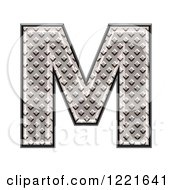 3d Diamond Plate Capital Letter M