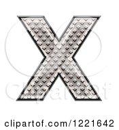 3d Diamond Plate Capital Letter X