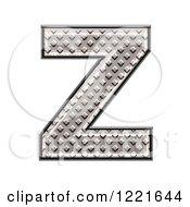 3d Diamond Plate Capital Letter Z