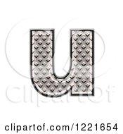 3d Diamond Plate Lowercase Letter U