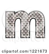 3d Diamond Plate Lowercase Letter M