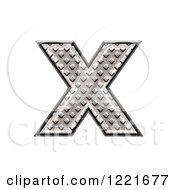 3d Diamond Plate Lowercase Letter X