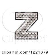 3d Diamond Plate Lowercase Letter Z