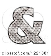 Clipart Of A 3d Diamond Plate Ampersand Symbol Royalty Free Illustration