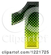 3d Gradient Green And Black Halftone Number 1