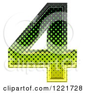 3d Gradient Green And Black Halftone Number 4